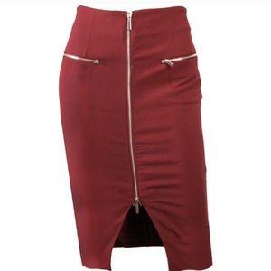Elizabeth and James Ashlyn Zip Skirt Sample Size 2
